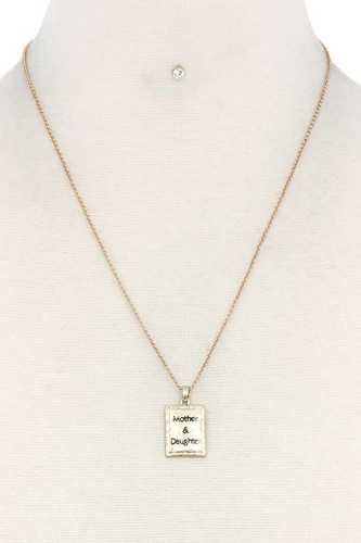 Mother daughter pendant necklace-id.cc38624
