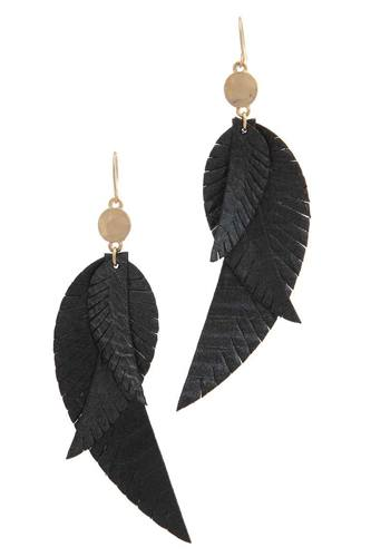Genuine leather drop earring -id.cc38629