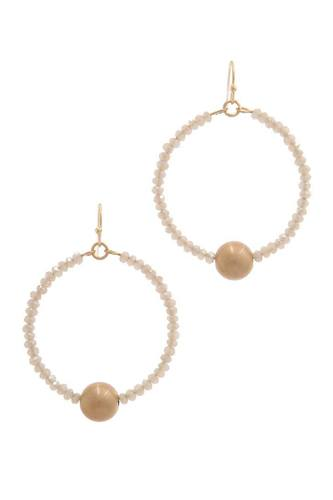 Metal ball beaded drop earring-id.cc38633