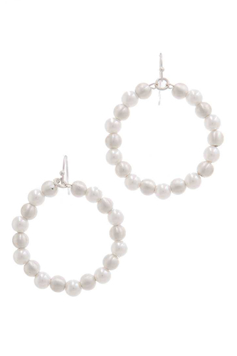 Beaded circle drop earring-id.cc38634