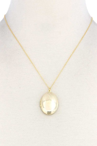 Oval shape locket metal necklace-id.cc38653