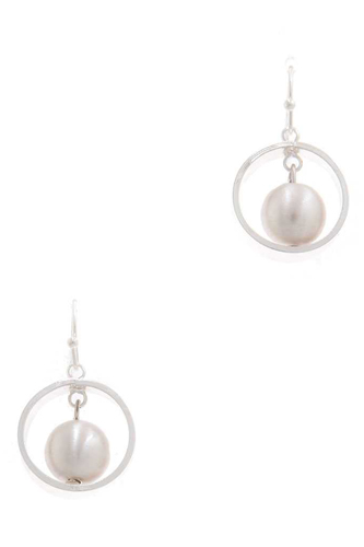 Pearl circle drop earring-id.cc38656