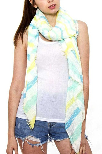 Striped oblong scarf-id.cc38691