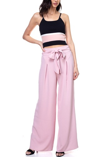Belted pleated palazzo pants-id.cc38713b