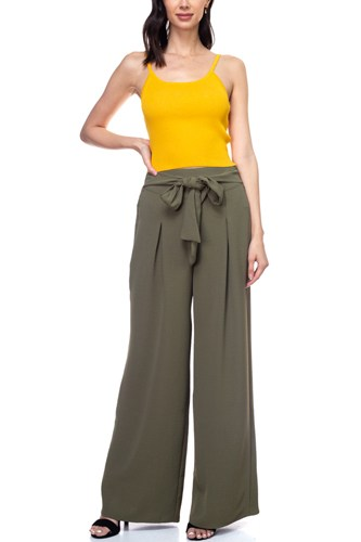 Belted pleated palazzo pants-id.cc38713d