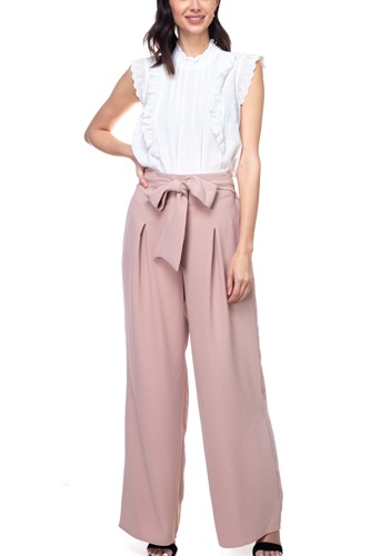 Belted pleated palazzo pants-id.cc38713e