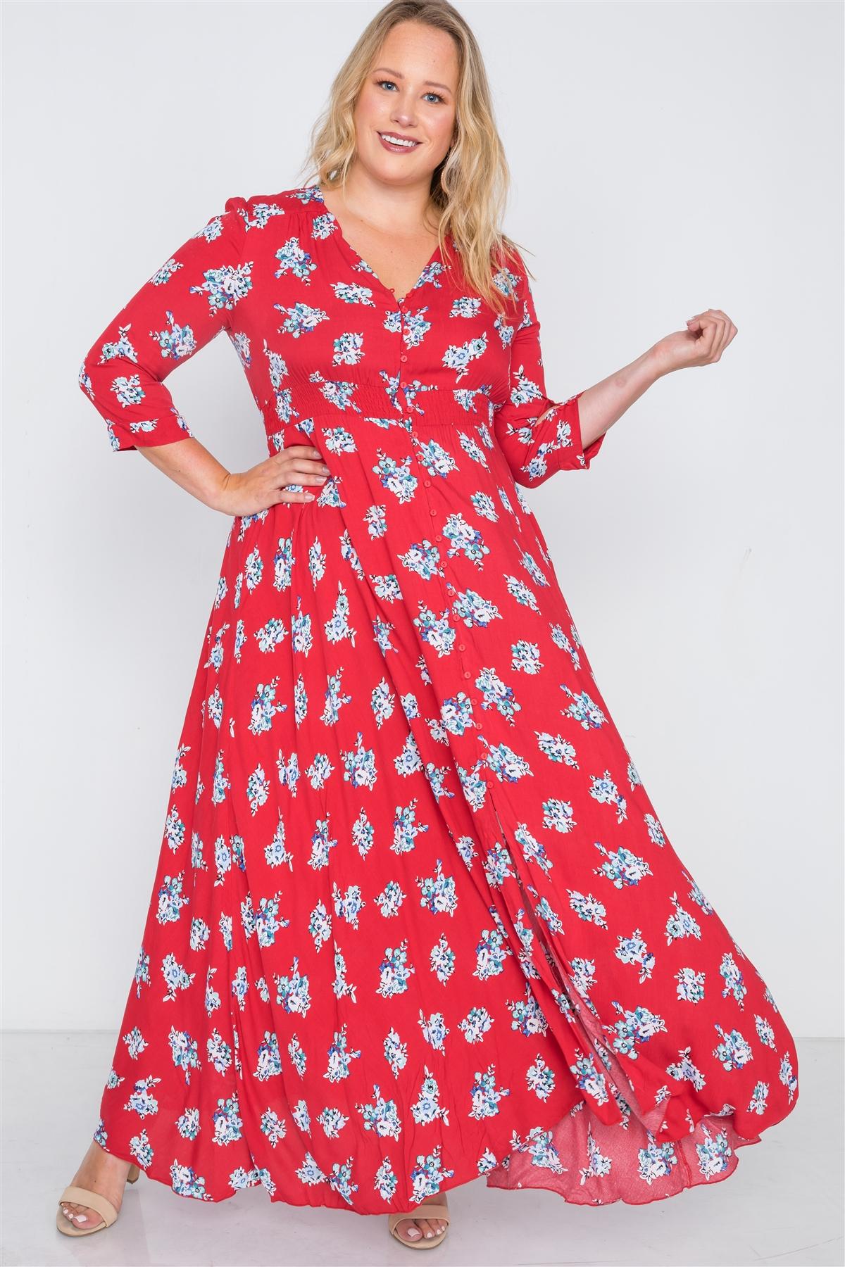 Plus size floral button down maxi dress-id.cc38719a