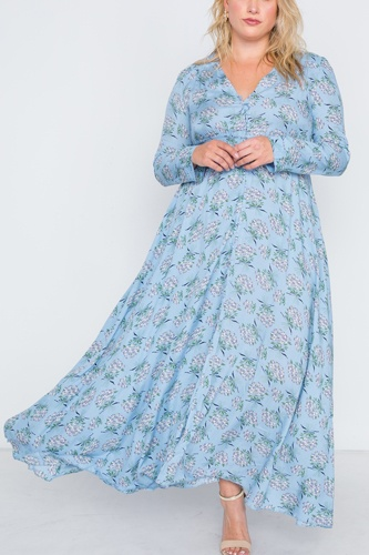 Plus size  floral print button down maxi dress-id.cc38718b