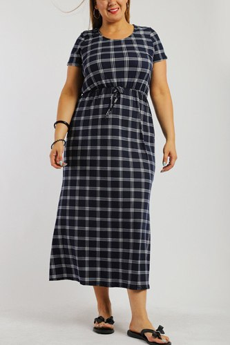 Plaid, ankle length maxi dress-id.cc38727b