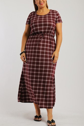 Plaid, ankle length maxi dress-id.cc38727c