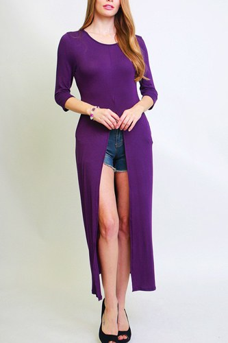 Solid long body tunic top-id.cc38728a