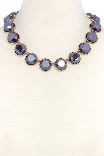 Circle bead short necklace-id.cc38757
