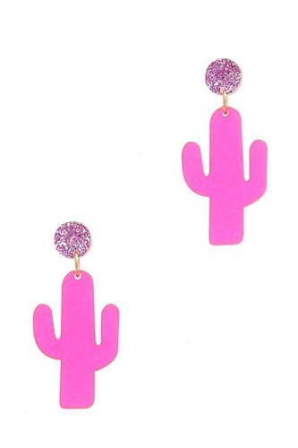Cactus post drop earring-id.cc38772
