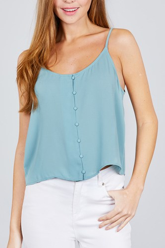 Front button cami woven top-id.cc38846a