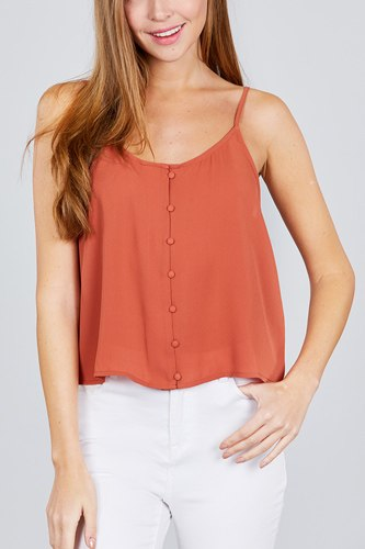 Front button cami woven top-id.cc38846d