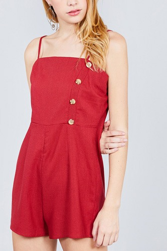 Button down cami linen romper-id.cc38849