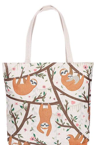 Cute sloth family print canvas tote bag-id.cc38883