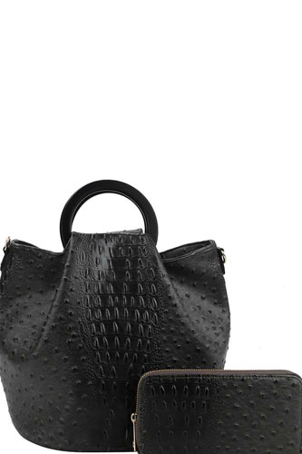2in1 stylish croco pattern chic satchel with long strap-id.cc38884