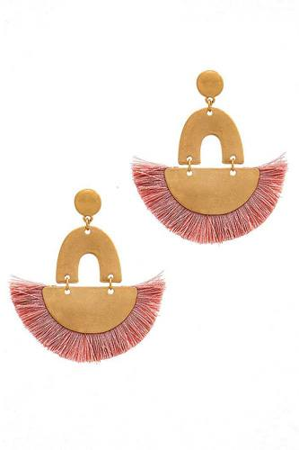 Trendy fan tassel drop chic earring-id.cc38899
