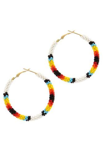 Beaded hoop earring-id.cc38924