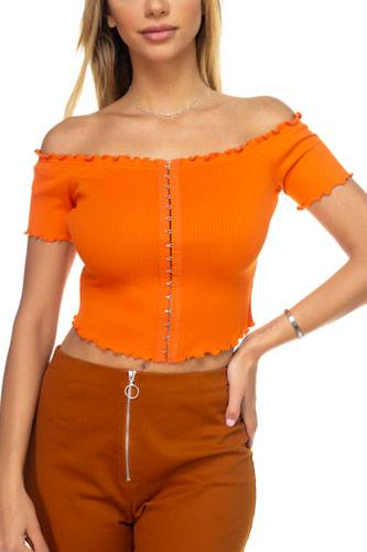 Hook & eye ribbed off the shoulder top-id.cc38951e