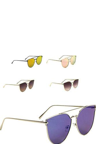 Cat eye aviators color mirror sunglasses-id.cc38959