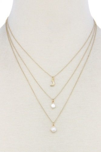 Sexy chic pearl 3 layer necklace-id.cc39012