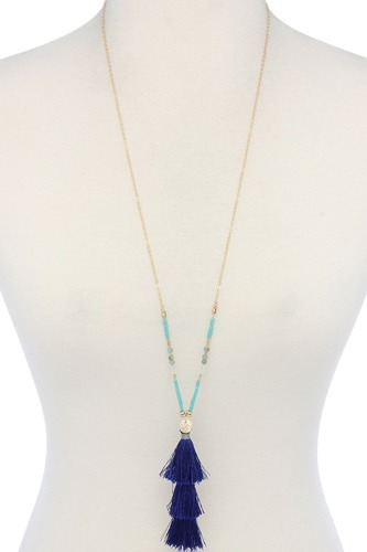 Tassel beaded necklace-id.cc39014