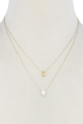 Modern chic double layer necklace-id.cc39015