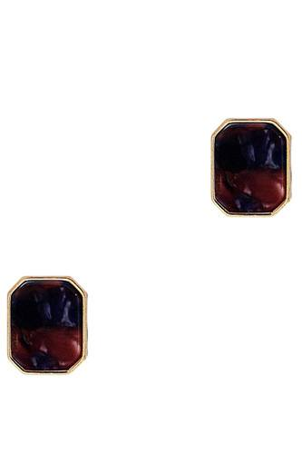 Fashion square marble earring-id.cc39017