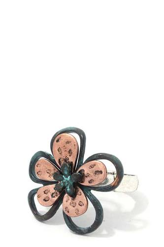 Two tone flower stretch ring-id.cc39038