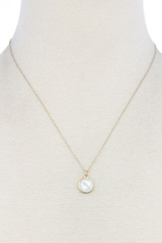 Modern chic pearl pendant necklace-id.cc39041