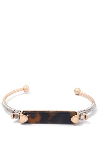 Acetate bar wire wrapped cuff bracelet-id.cc39045