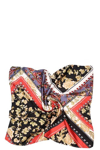 Mixed pattern silky scarf -id.cc39086