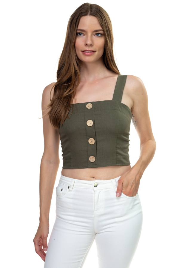 Backless Ribbed Crop Top - Ribbed Cropped Tank - Halter