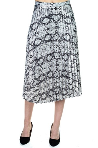 Pleated Snake Print Skirt-id.cc39095
