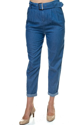 Belted Chambray Pants-id.cc39098a