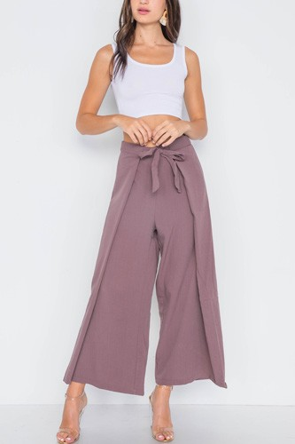High-waist front-tie wide leg pants-id.cc39116a