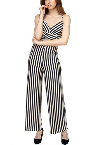 Stripe front twist jumpsuit-id.cc39129