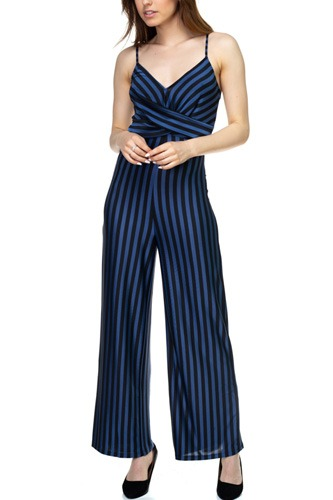 Stripe front twist jumpsuit-id.cc39129a