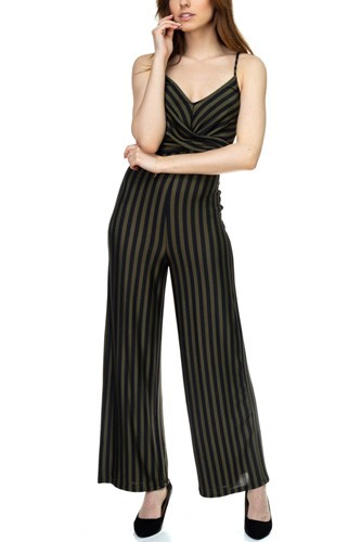 Stripe front twist jumpsuit-id.cc39129b