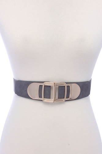 Metal buckle pu leather elastic belt-id.cc39144