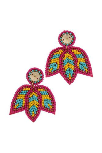 Seed bead post drop earring-id.cc39157