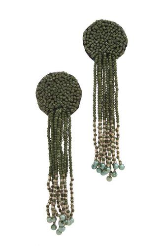 Circle seed bead dangle post drop earring-id.cc39160