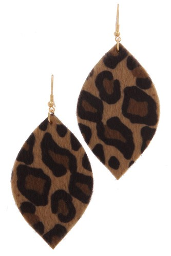 Animal print drop earring-id.cc39165
