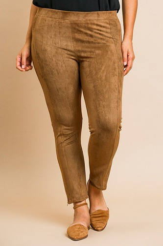 Suede skinny stretch pants-id.cc39202b