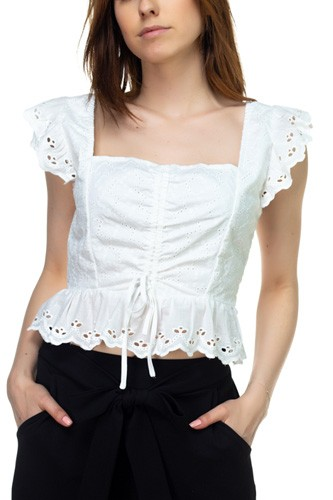 Embroidered ruffle cropped top-id.cc39282b