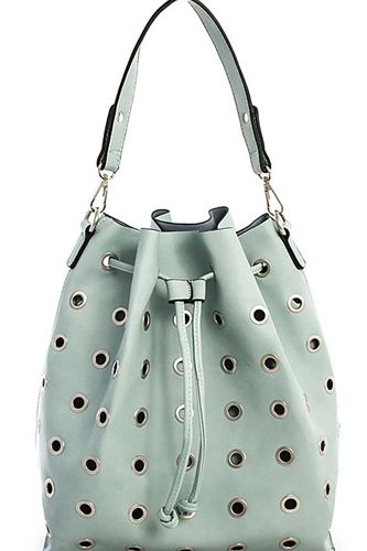 2in1 modern ring studded bucket shoulder bag -id.cc39288