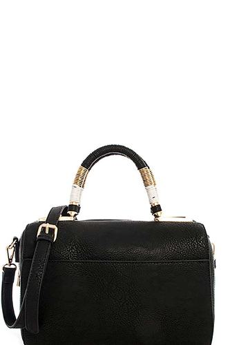 Cute stylish moroccan top handle boston bag with long strap-id.cc39291