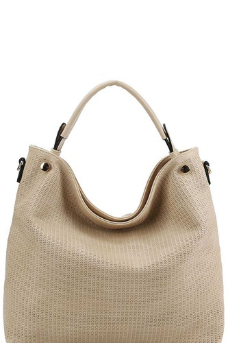 Stylish modern mesh front hobo bag with long strap-id.cc39293